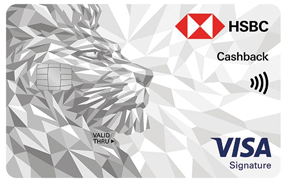 Compare credit cards from HSBC Cash Back Card